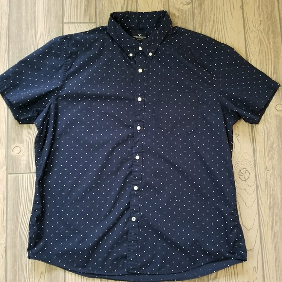 NWT【 S XL  】American Eagle Outfitters AEO MEN/'S Indigo Dot Shirt NAVY L M